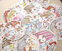 Jeffrey Fulvimari at Gallery Hanahou | Love Made Visible Love the idea of creating Jeffrey Fulvimari inspired paper plate pictures