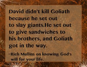 Rich Mullins Quote on knowing God's will for your life.