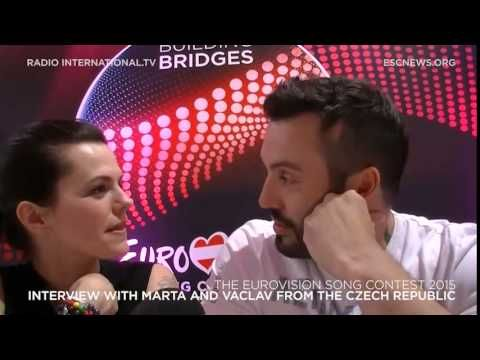 Eurovision 2015: Interview with Marta and Vaclav from the Czech Republic - YouTube