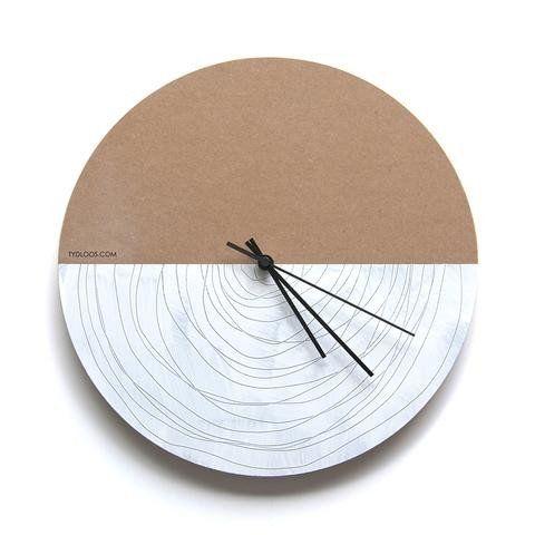 Large Spiral Wall Clock