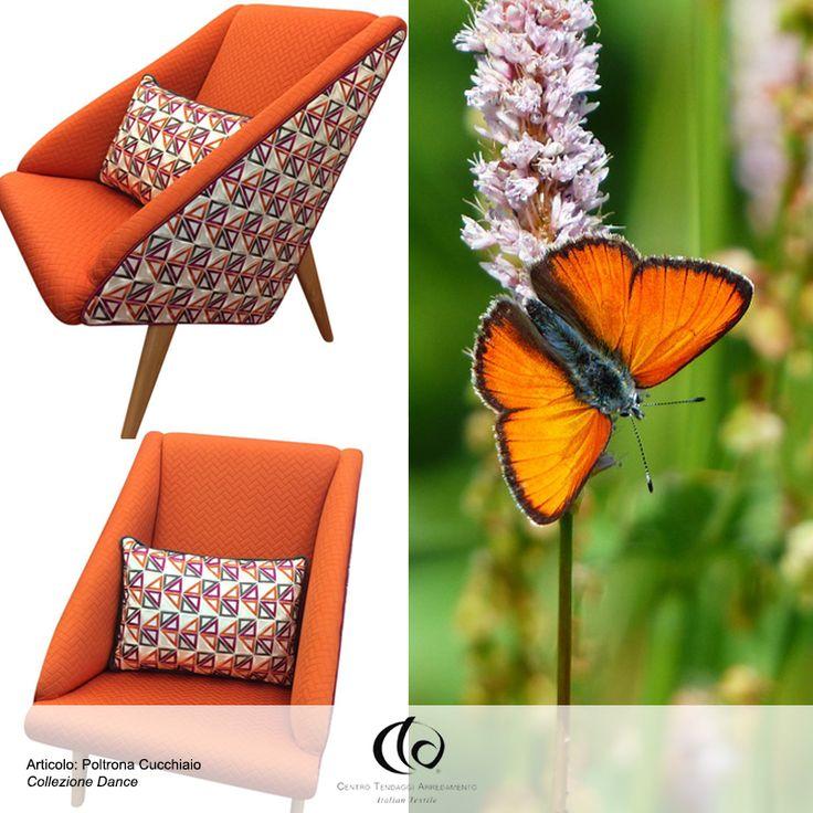 La nostra Poltrona #Cucchiaio ha gli stessi colori vivaci di una splendida farfalla! Enjoy! ✨  Visita il nostro sito www.ctasrl.com e scarica le nostre brochure su: http://bit.ly/1nhrLQM #tessuti #interiordesign #tendaggi #textile #textiles #fabric #homedecor #homedesign #hometextile #decoration