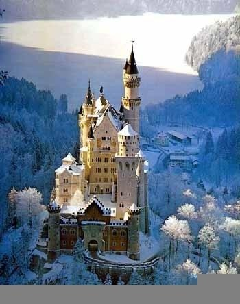 Neuschwanstein Castle, Germany, a great place to stay while touring the world on your honeymoon
