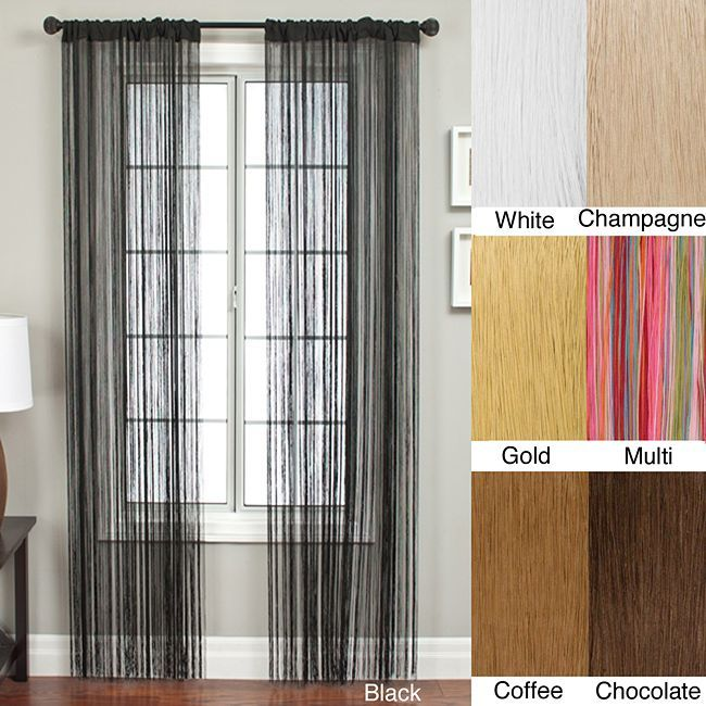 Lyon Rod Pocket 96-inch Curtain Panel (Chocolate), Brown, Size 42 x 96 (Polyester, Solid)