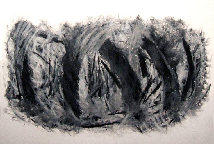"""""""Eclissi lunare"""" 2009 Pastelli ad olio su cartoncino 33x48 ©Pietro Gargano"""