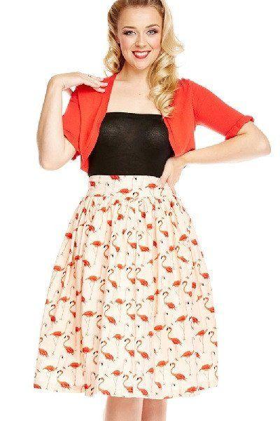 Lindy Bop Praia Flamingo Skirt