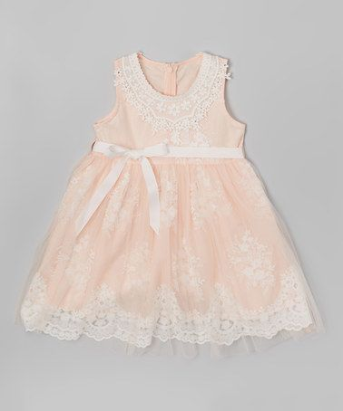 Another great find on #zulily! Pink Lace Dress - Toddler & Girls by Frills du Jour #zulilyfinds
