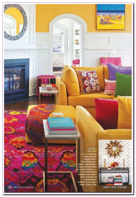 living room Bright Colors Modern in 2020 | Wohnzimmer bunt ...