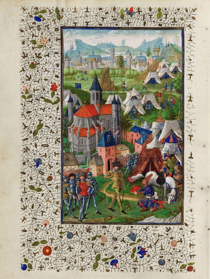 Koninklijke Bibliotheek van België, Brussel - Jan De Tavernier - Bertrandon de la Broquière overhandigt boek aan Philips de Goede
