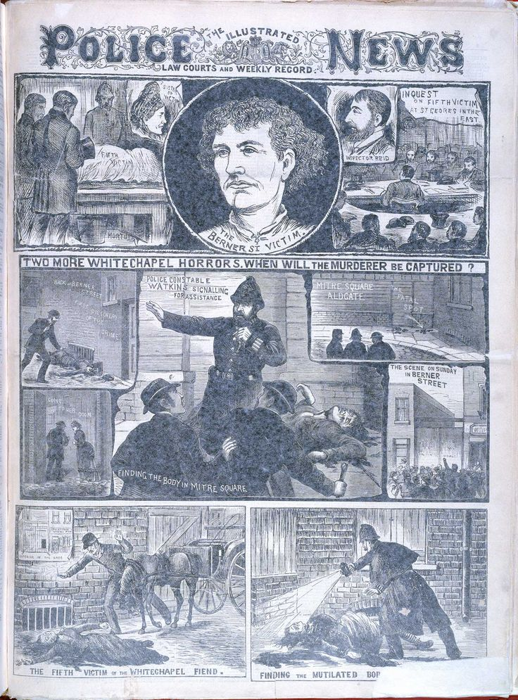 'Two more Whitechapel murders' The Illustrated Police News. Published: 6 October 1888, London.