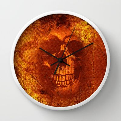 Fire Scull Wall Clock by Scar Design - $30.00