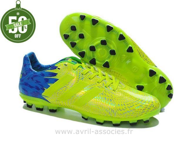 Boutique adidas 11Pro Carnaval TRX AG Vert Bleu (Chaussure De Foot Adidas Pas Cher)