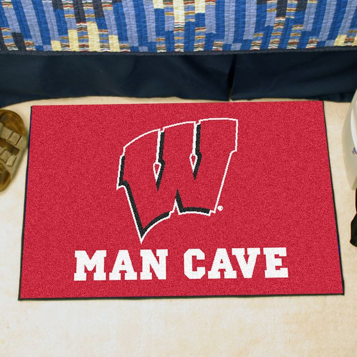 Man Cave Rugs : Ncaa university of wisconsin man cave starter rugs area