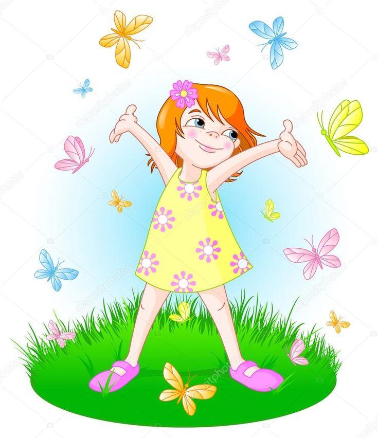 A fost odată ca niciodată, că dacă n-ar fi fost, nu s-ar fi povestit, o fetiţă drăgălaşă, veselă şi minunată care trăia într-o ţară plină de fluturi ...