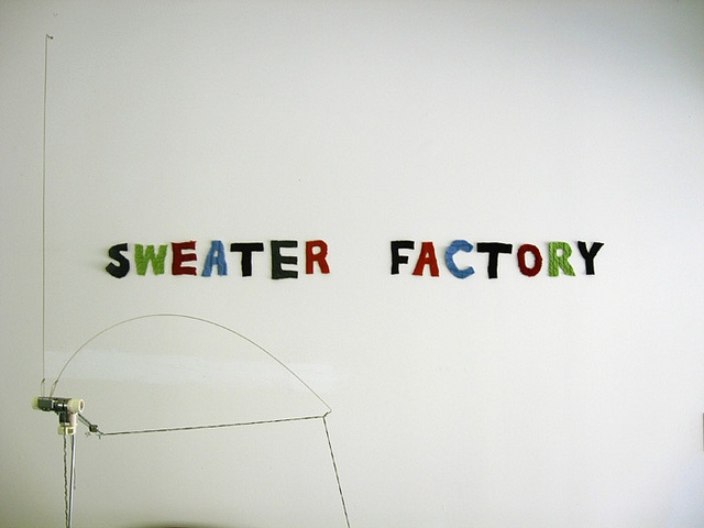 the sweater factory (sign) by jodigreen, via Flickr