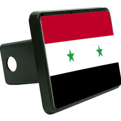 Syria Flag Trailer Hitch Cover