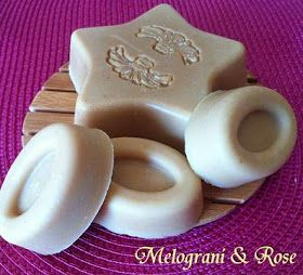 Melograni & Rose: SAPONE AL LATTE DI CAPRA....riso, mandorle e miele!!