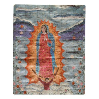 #Our Lady of Guadalupe (Papyrus Version) Jigsaw Puzzle - #cute #gifts #cool #giftideas #custom