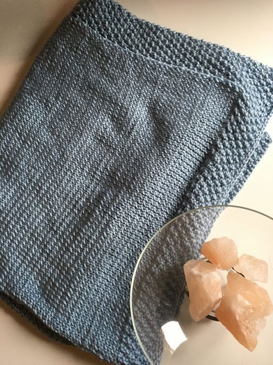 Double Seed Stitch Baby Blanket Knitting Pinterest Seed Stitch