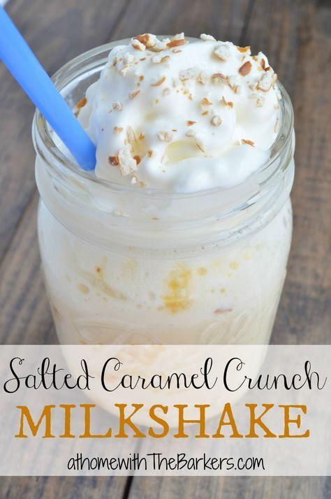 Salted Caramel Crunch Milkshake