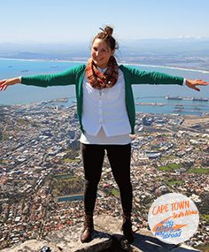 Natalia, not on the top of the world, but at the very end of South Africa. #SouthAfrica #CapeTown #Internshipabroad
