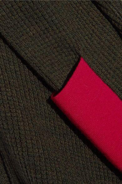 Армия-зеленый и красный мериносовой шерсти скользит на 100% шерсти мериноса машинная стирка