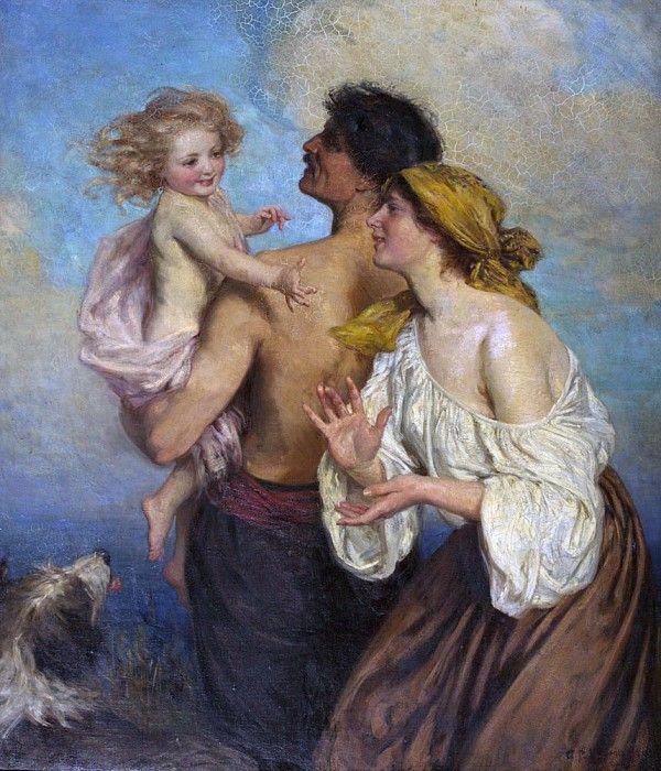 Семья. Джордж Перси Джейкомб-Худ. Описание картины.