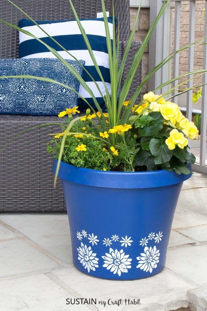39++ Stencils for garden pots ideas