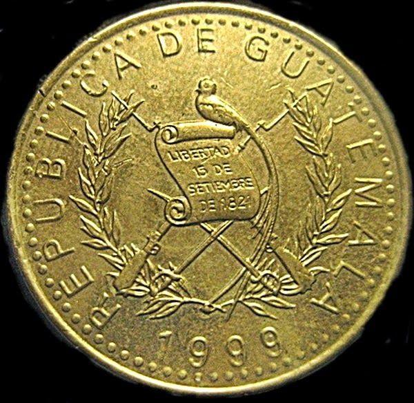 Monedas de México y el Mundo: Guatemala: Un Quetzal de 1999
