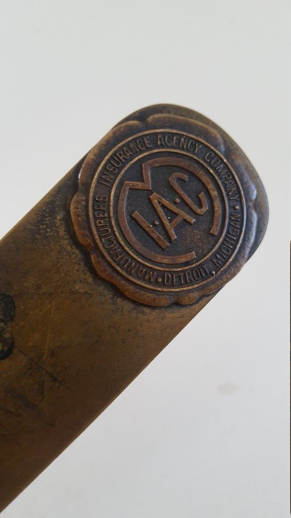 Antique Early 20th Century Manufacturers Insurance Agency Company