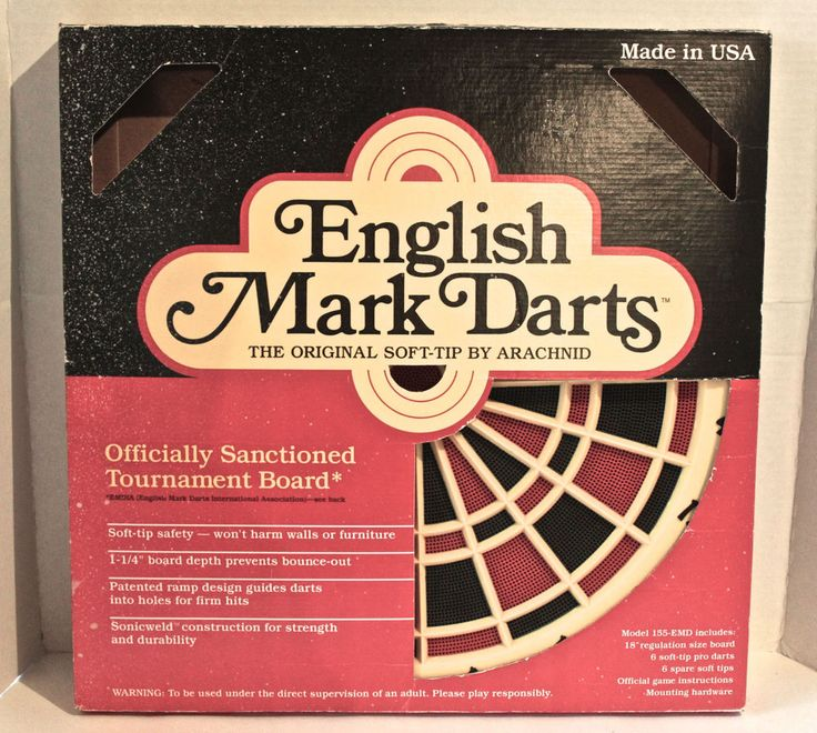 Arachnid Dart Board Soft Tip English Mark Darts Target Set 155-EMD Made In USA #Arachnid