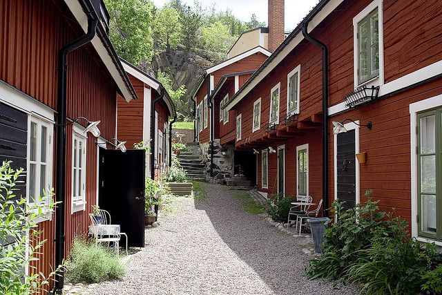 The center of Norrtälje is a classic Swedish wooden town, quite densely built and colorful, much of it dating to the 1700's and 1800's.