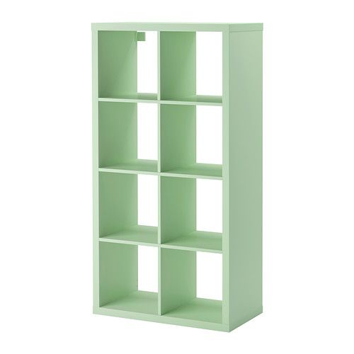 It comes in green!!   IKEA - KALLAX, Shelving unit, light green, , Choose whether you want to place it vertically or horizontally to use it as a shelf or sideboard.