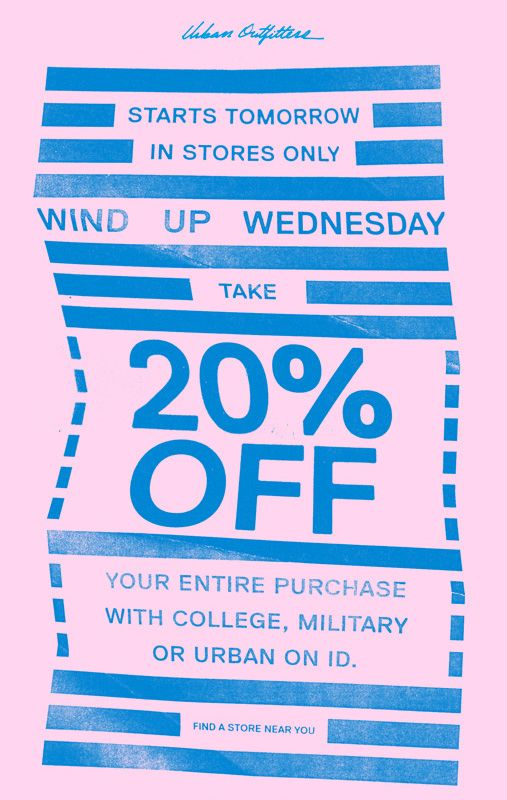 Urban Outfitters email blast