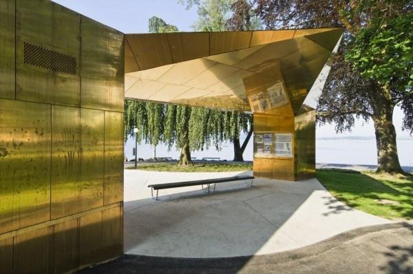 Gold Bling building in Zug   cometti truffer architekten