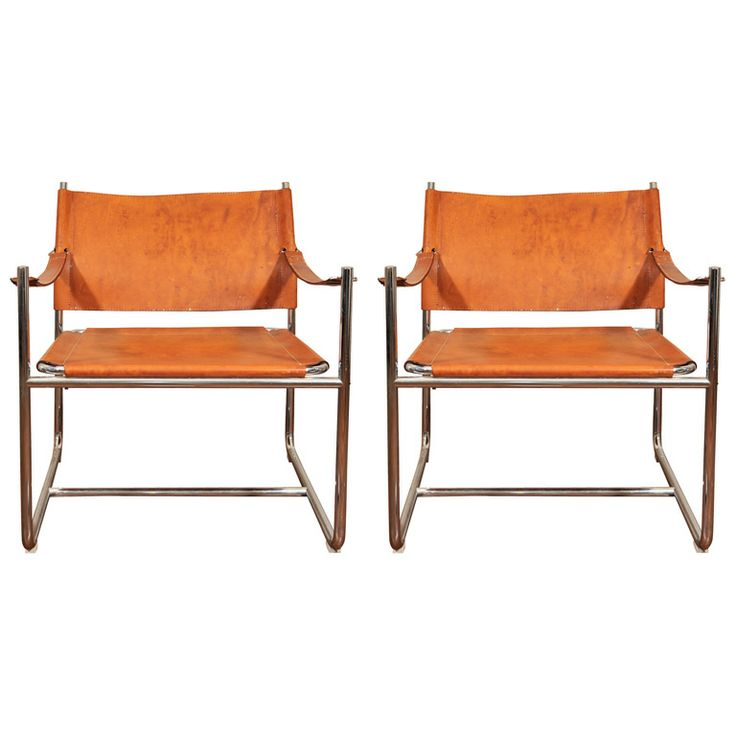 1960s leather sling chairs come in pinterest
