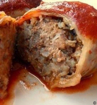 Cabbage-Rolls-Cabbage-leaves-stuffed-with-ground-beef-onion-and-rice-covered-in-a-sweet-and-tangy-tomato-sauce-and-cooked-in-a-slow-cooker #best recipe to try