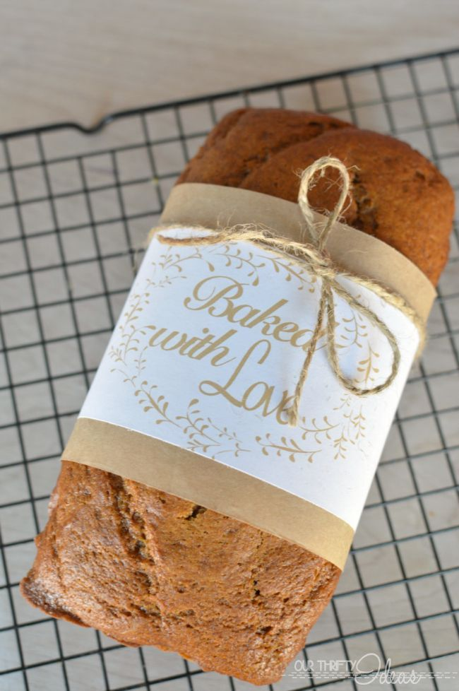 Bread wrapper printables. Perfect for gift giving. love love love