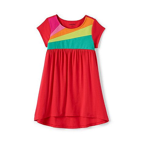Lands' End Girls' red trapeze colour block legging top | Debenhams