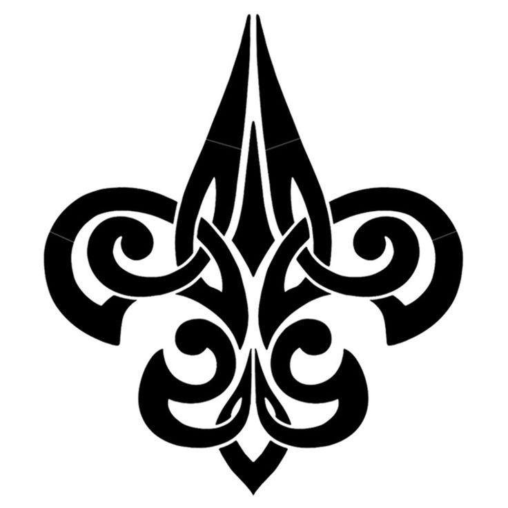17 best ideas about fleur de lis tattoo on pinterest the compass map compass and simplicity - Tattoo tribal fleur ...