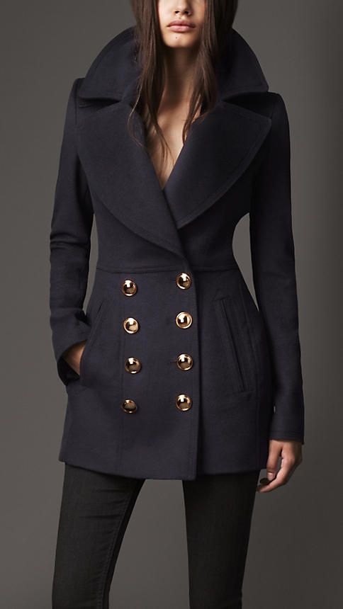 Burberry London Wool Cashmere Pea Coat. >>> I die for Burberry coats.