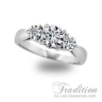Tradition - Lab Diamond Engagement Ring - When you ask for a lifetime commitment, present her with a ring as beautiful and unique as she is. $699.00 - http://www.lab-diamonds.com/tradition-lab-created-engagement-ring.html