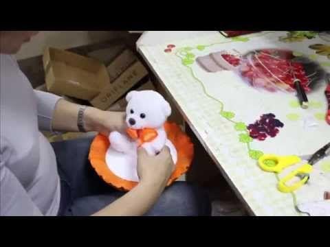 Мастер-класс. Крепёж съёмной игрушки на каркас букета - YouTube