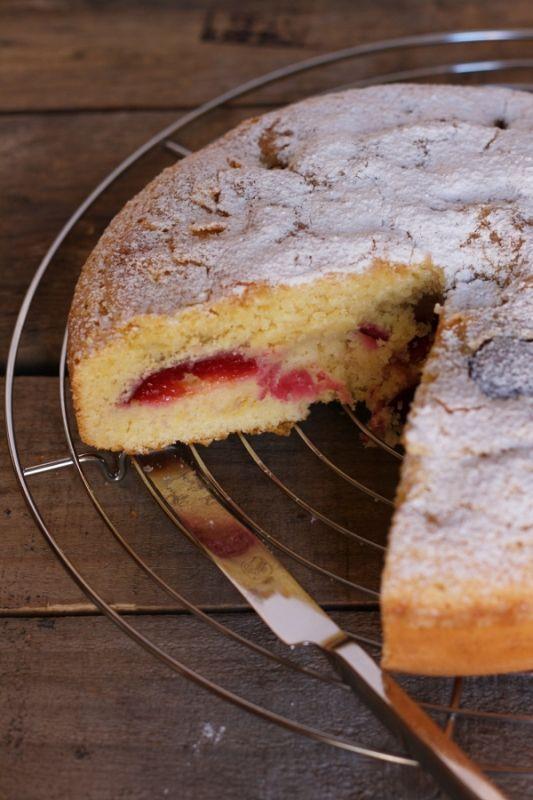 torta soffice alle prugne