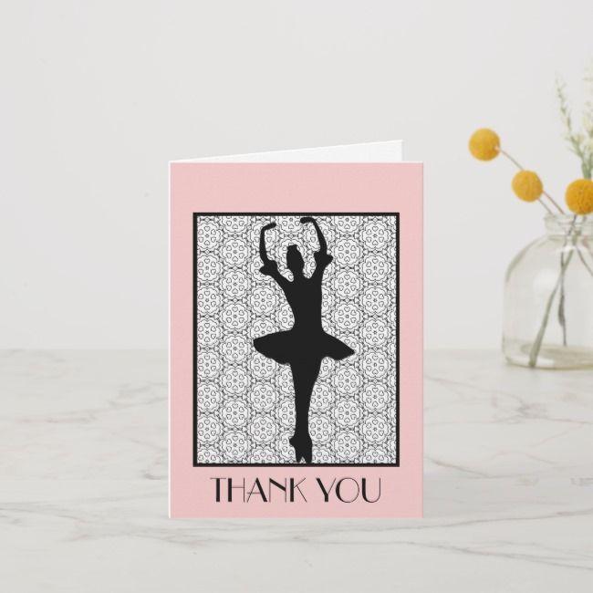Ballerina Teacher Appreciation Thank You Zazzle Com In 2020 Teacher Appreciation Cards Teacher Thank You Cards Appreciation Thank You