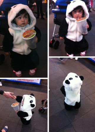 When I have a kid I will buy him / her this super cute panda suit.