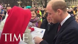 The Duke Of Cambridge Hands Santa Prince Georges Christmas Wishlist   TIME