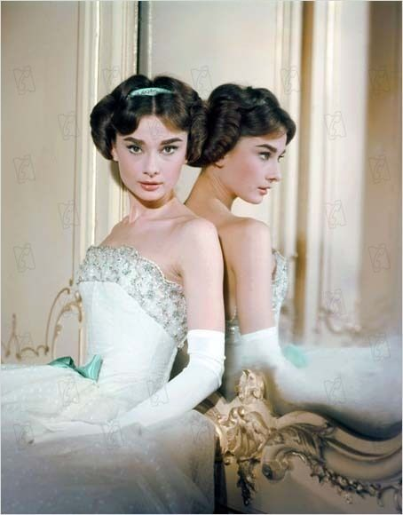 """Audrey Hepburn in """"Love in the Afternoon"""", 1957. S)"""