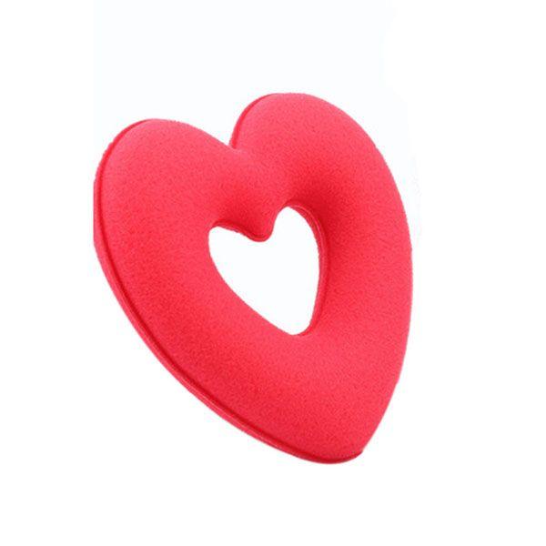 Haar donut Love – Hartvormig rood