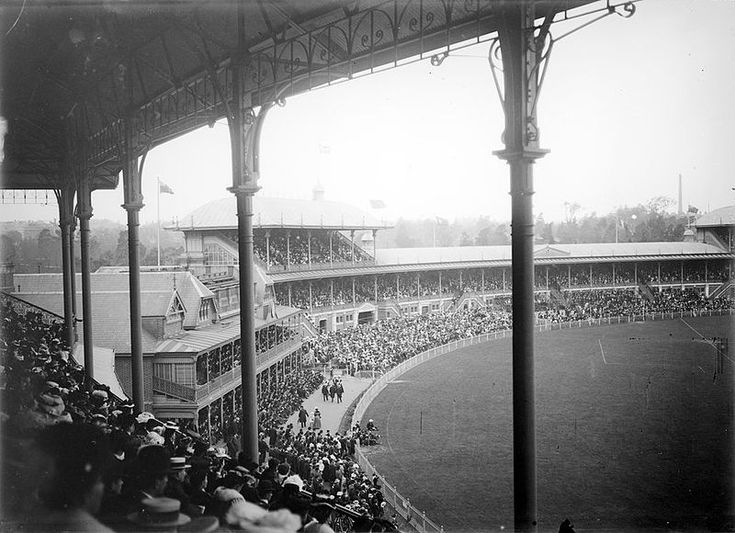 Photograph overlooking the Melbourne Cricket Ground (MCG), Melbourne, Victoria, Austalia, 1914