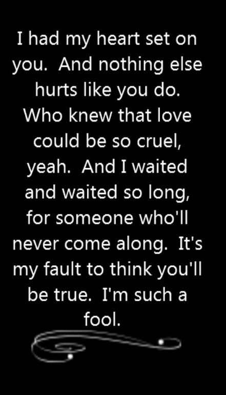 Christina Aguilera feat Blake Shelton - Just a Fool - song lyrics, song quotes, songs, music lyrics, music quotes